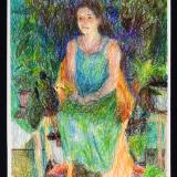 Chelsea with Plants, study in crayon
