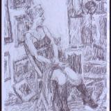 Jenny in Tom's Studio